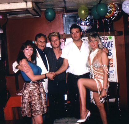Annie Sprinkle, Bob Anthony, Bob's son, Josh, unidentified stripper