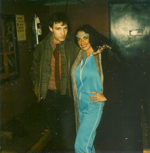 A stripper prepares. Raven de la Croix and Josh, Melody Burlesk, 1982