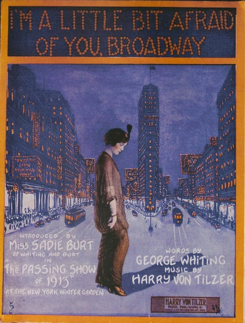 I'm a little bit afraid of you broadway