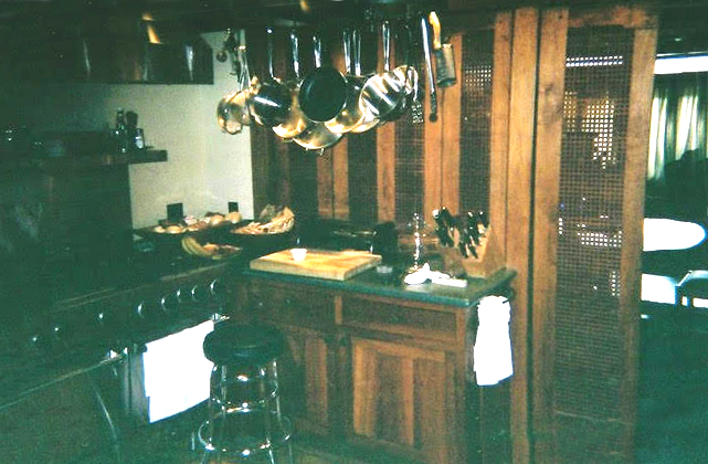 The kitchen where Jerry concocted the old-world recipes of his mother Manya, along with the greatest barbecue known to man