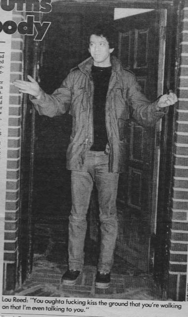 Josh Alan Friedman interviews Lou Reed