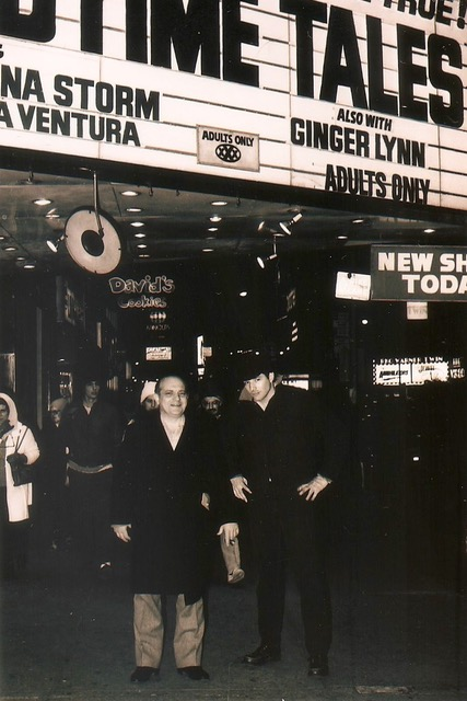 Uncle Lou with Josh Alan Friedman on 42nd Street