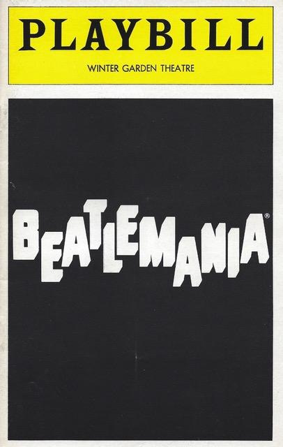 Beatlemania Playbill