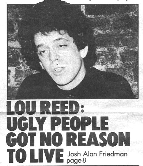 Josh Alan Friedman, Lou Reed