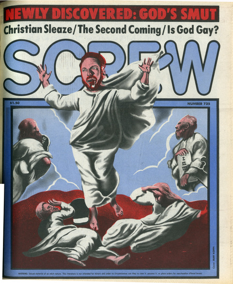 Screw Magazine Cover illustration of Al Goldstein