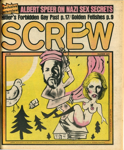 Screw magazine illustrated art cover