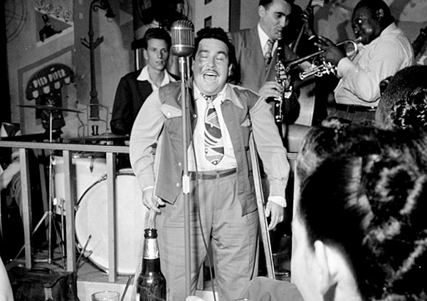 Doc Pomus at the Pied Piper in New York, 1947