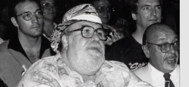 Still from documentary, AKA Doc Pomus: Josh, Doc, (unidentified), Ahmet Ertegun