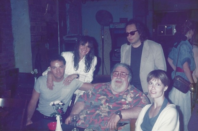 "Josh Alan Friedman, Peggy Bennett, Larry ""Ratso"" Sloman, and Doc Pomus at The Bitter End in New York City"