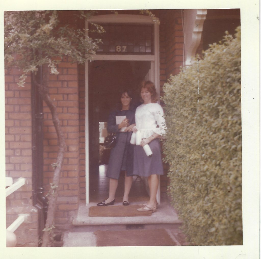 My mother, Ginger (left) and Edna O'Brien