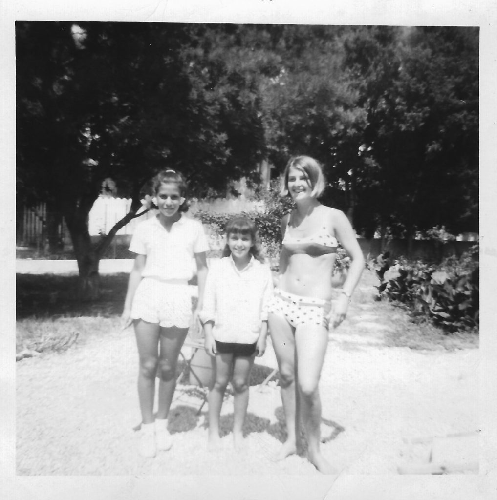 Vickie (left), who I danced with through the summer of '65